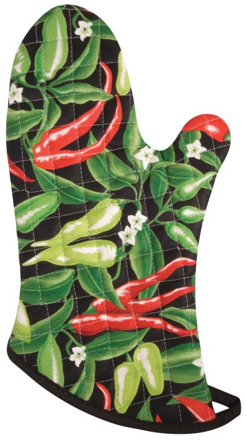 Now Designs Oven Mitt Pick A Pepper Chili Peppers