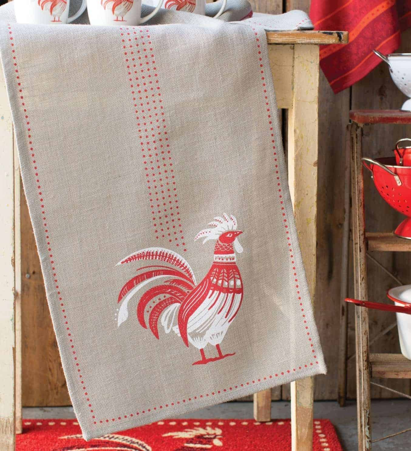 ... Rooster Table Runner. ; 