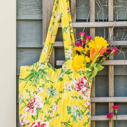 April Cornell Market Bag Tote Water Lily
