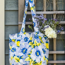 April Cornell Market Bag Tote Daydream Blue Yellow