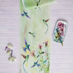 April Cornell Table Runner Hummingbird Kitchen Linen