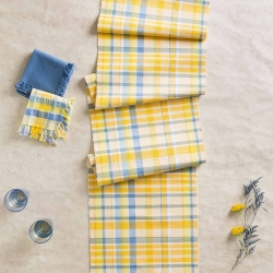 April Cornell Table Runner Provence Seersucker Yellow