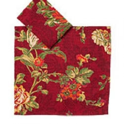 April Cornell Two Dishcloths Set Tea Rose Brick Red