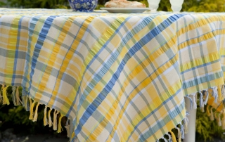 April Cornell Tablecloth Provence Seersucker Yellow