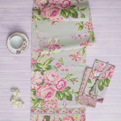 April Cornell Table Runner Vivian Floral Kitchen Linen