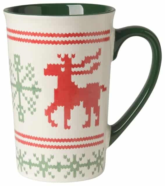 Coffee Moose Mug New Now Designs Red Stoneware