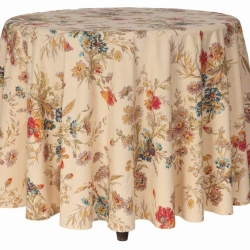 April Cornell Tablecloth Wildflower Round 88""