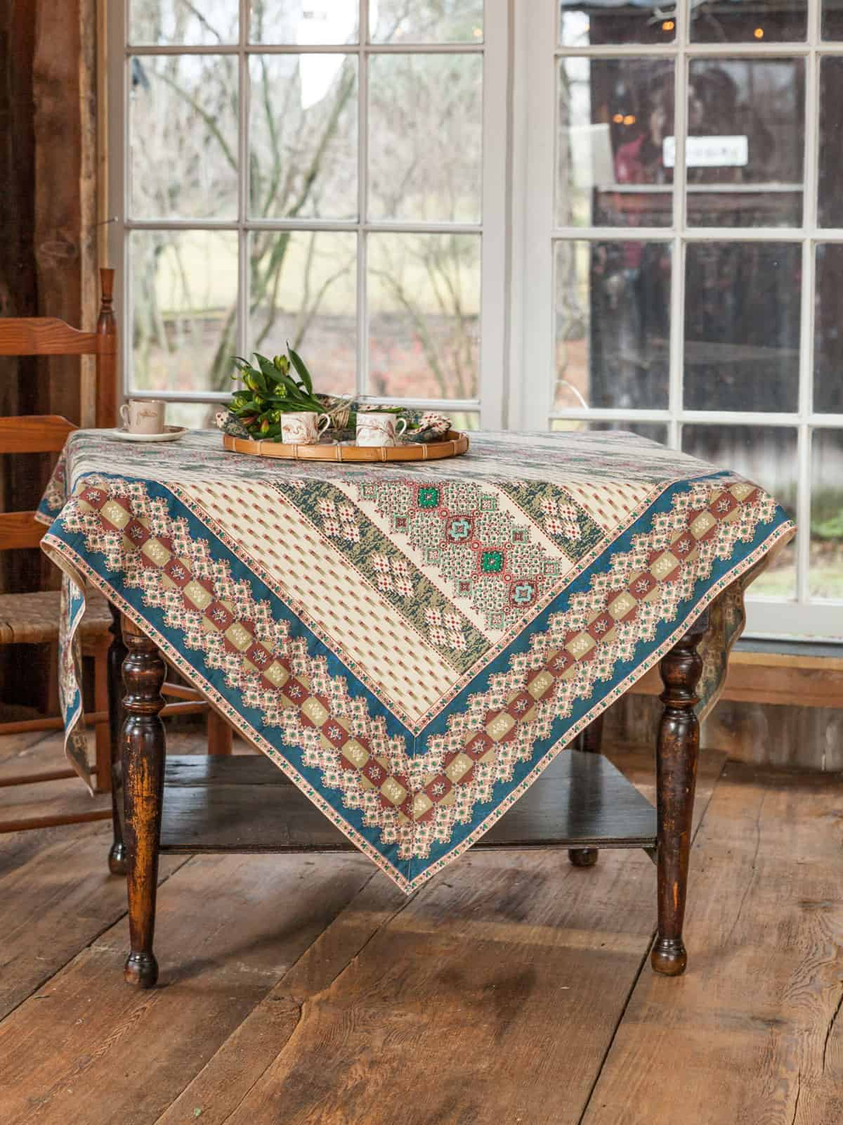April Cornell Tablecloth French Lotus Collection Multi