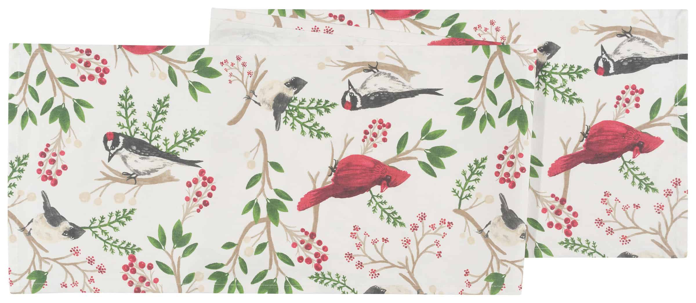Now Designs Winter Birds Table Runner
