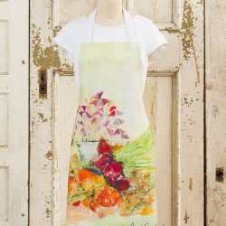 April Cornell Chef's Apron Farmers Market Watercolor