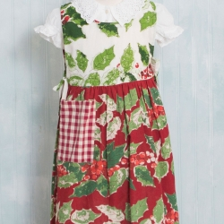 April Cornell KIDS Apron Merry Maker's Patchwork