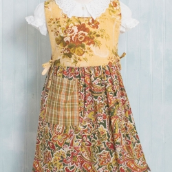 April Cornell Kids Apron September Patchwork Paisley