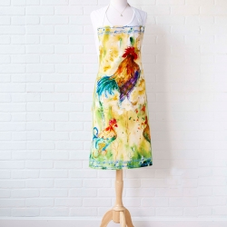 April Cornell Rooster Watercolor Chef Apron