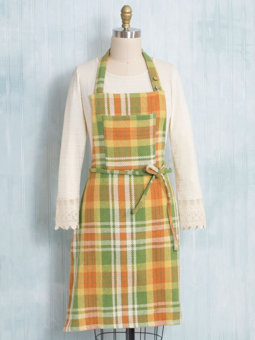 April Cornell September Plaid Apron