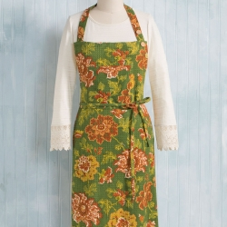 April Cornell Ming Apron Green