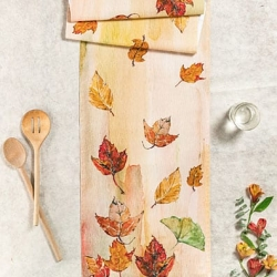 April Cornell Table Runner Autumn Leaves