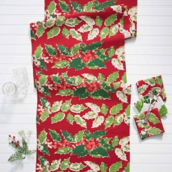 April Cornell Table Runner Jolly Holly
