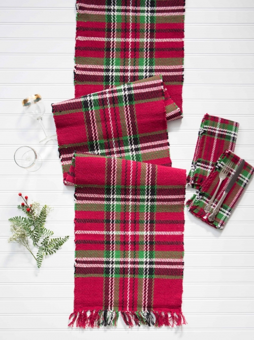 April Cornell Table Runner Tartan Plaid