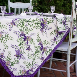 April Cornell Tablecloth 54x54 Irresistible Iris