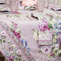 April Cornell Tablecloth 36x36 Wildflower Meadow