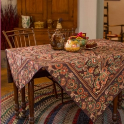 April Cornell Tablecloth Queen's Court 54X54 Paisley