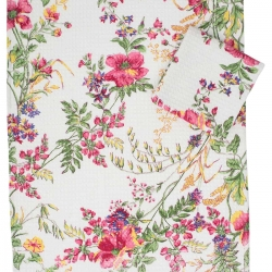 April Cornell Tea Towel Wildflower Meadow Ecru