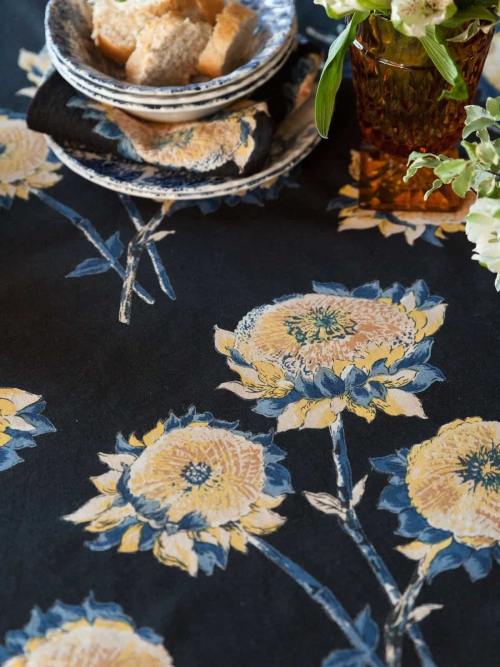 April Cornell Round Tablecloth Sun Follower 88""