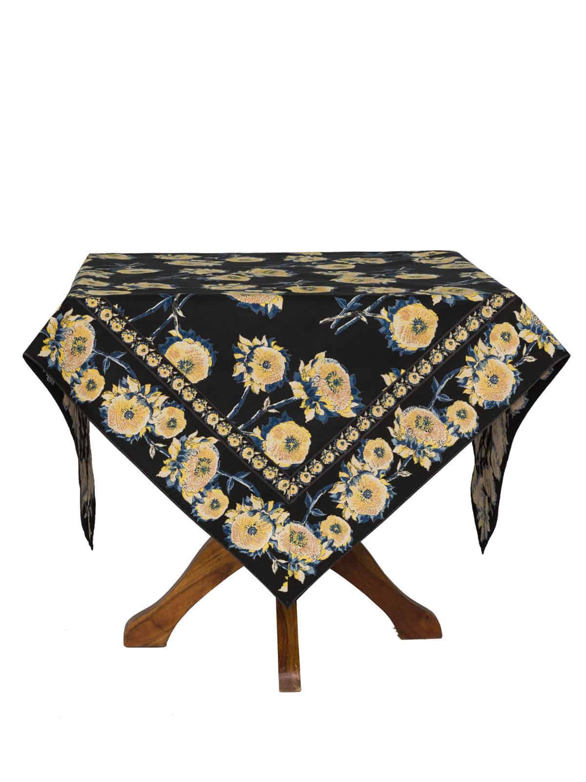 April Cornell Tablecloth Sun Follower 36x36 Black