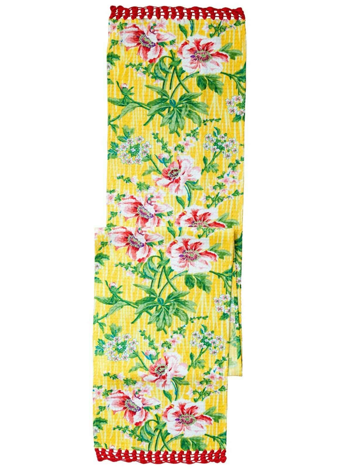April Cornell Table Runner Water Lily Yellow