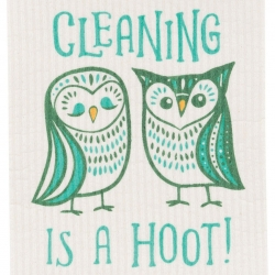 Now Designs Hootenanny Owls Swedish Dishcloth