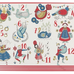 Now Design Placemats Set 4 Twelve Day Christmas