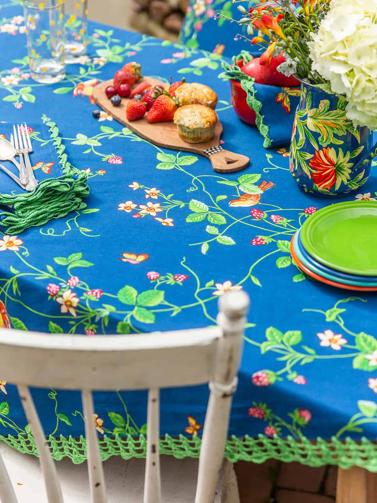 April Cornell Tablecloth Strawberry Fields