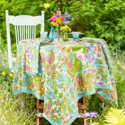 April Cornell Tablecloth Jungle Bright 36x36