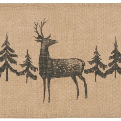 Now Designs Placemats Set 4 Rustic Burlap