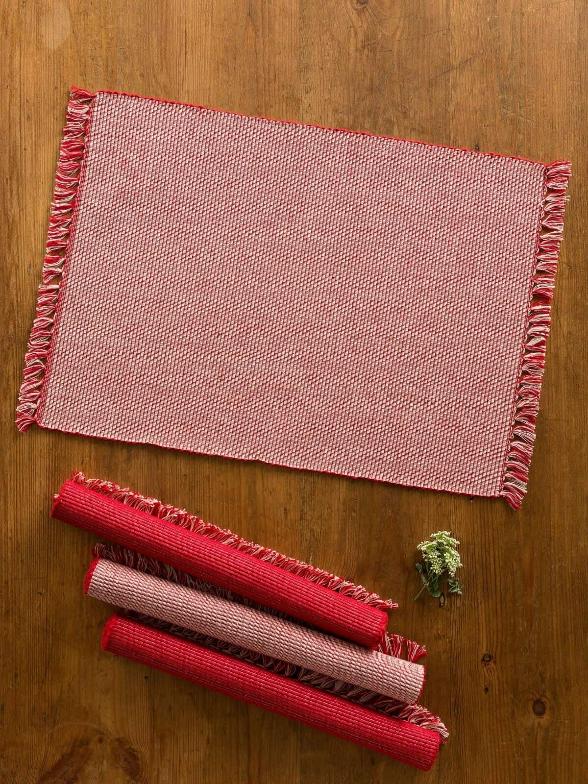 April Cornell Placemats Set 4 Essential Red