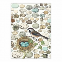 Michel Design Works Kitchen Tea Towel Birds Nest With Eggs
