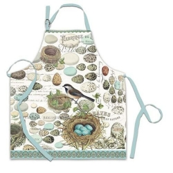 Michel Design Works Cotton Apron Birds Nest & Eggs NWT