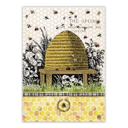 Michel Design Works Kitchen Tea Towel Honey Clover Cotton Dish Towel Bee Hive