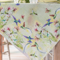 April Cornell Hummingbird Watercolo Tablecloth 54x54